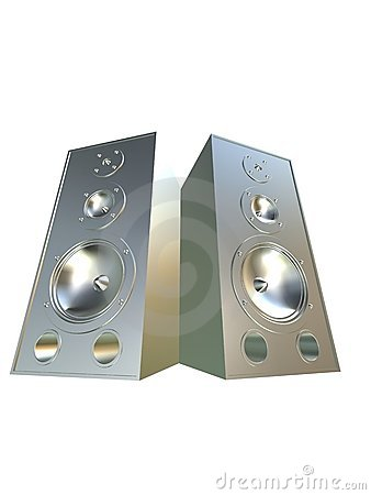 Free 3d Speakers Royalty Free Stock Image - 2036516