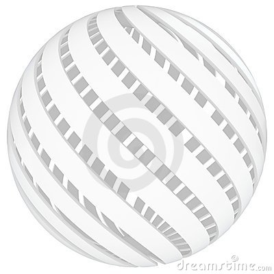 3d sphere blank with twisted sides