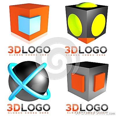 Free 3D Sphere Cube Logo Stock Image - 41941691