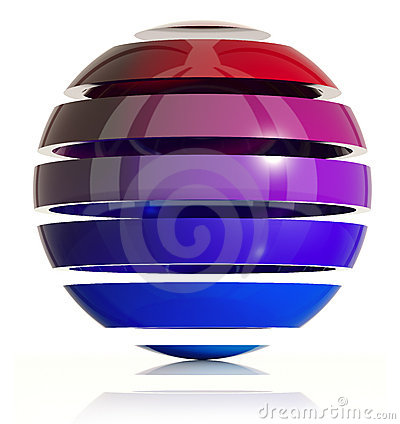 3d sphere design.