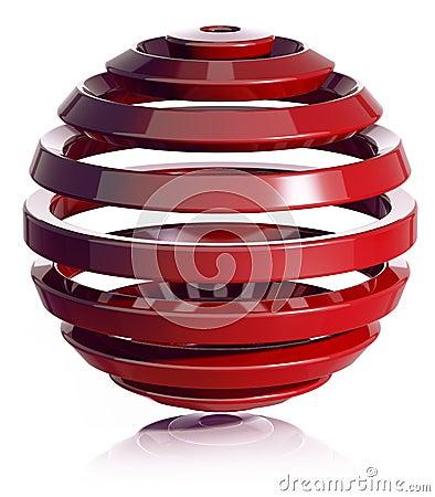 3d sphere design.