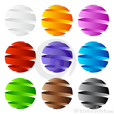 3D sphere icon and logo design