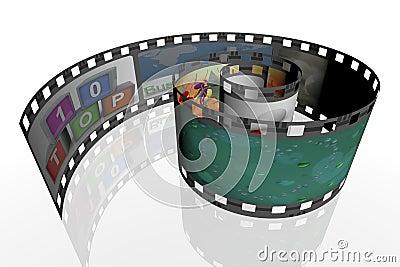 3d spiral film strip