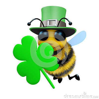 Free 3d St Patricks Day Bee Royalty Free Stock Photos - 38773458