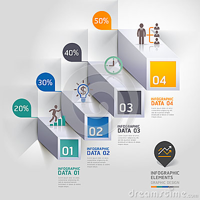 Free 3d Staircase Diagram Modern Business Steb Options. Royalty Free Stock Photo - 38942895