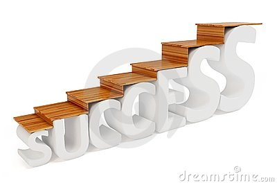 3d stairs way to success