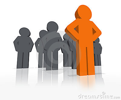 3D Standout Leader - Be Different