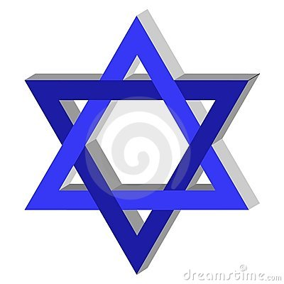 Free 3D Star Of David Royalty Free Stock Images - 4862259