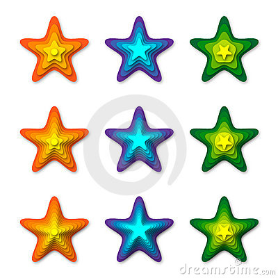 3D Stars Stock Photo - Image: 14947850