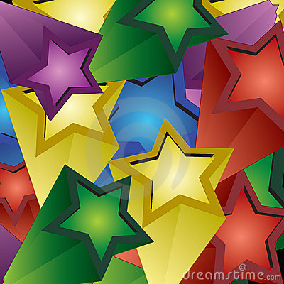 3d stars explosion background