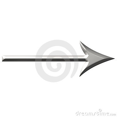 3D Steel Arrow