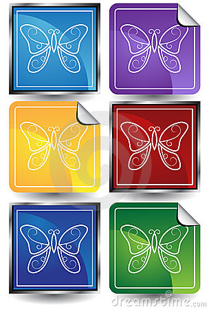 3D Sticker Set - Butterflies