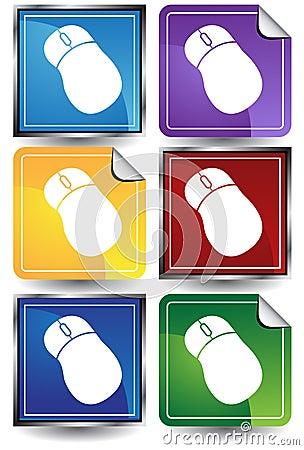 3D Sticker Set - Mouse