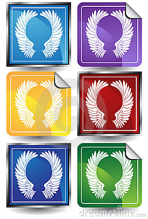 3D Sticker Set - Wings