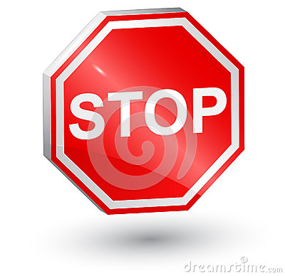 3d, stop sign