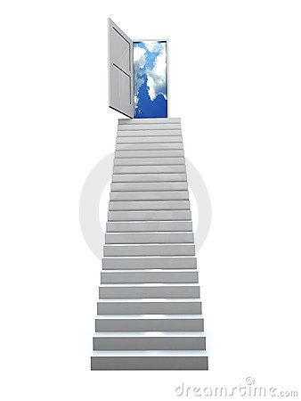 3D Success business staircase