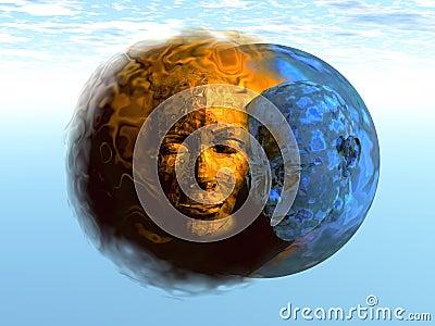3D Sun and Moon