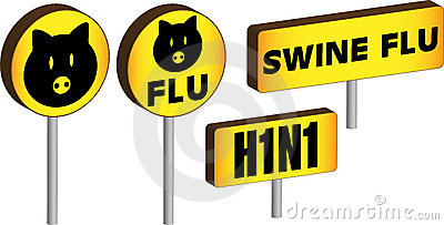 3D Swine Flu Signs