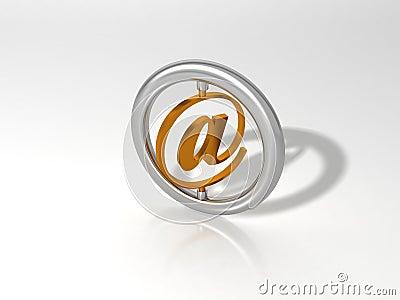 3d symbol of e-mail
