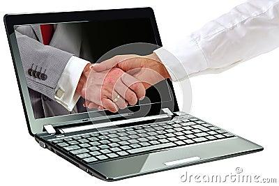 3d symbol of internet deal