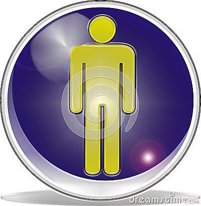 3d symbol man