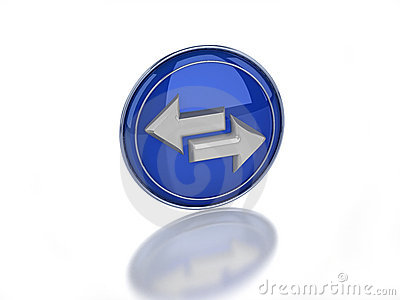 3d sync glossy icon