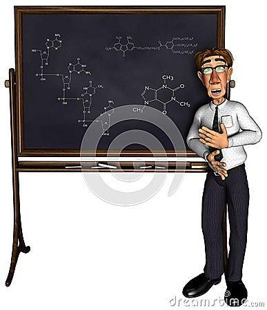 3d teacher teaching 3 cartoon