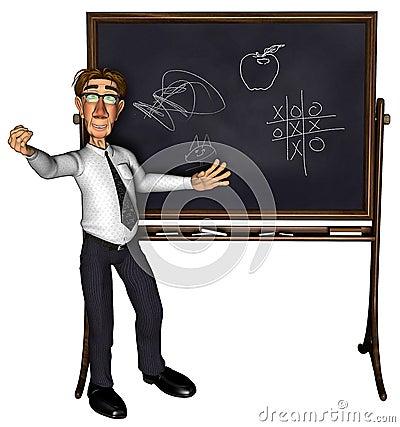 3d teacher teaching 3 cartoon 2