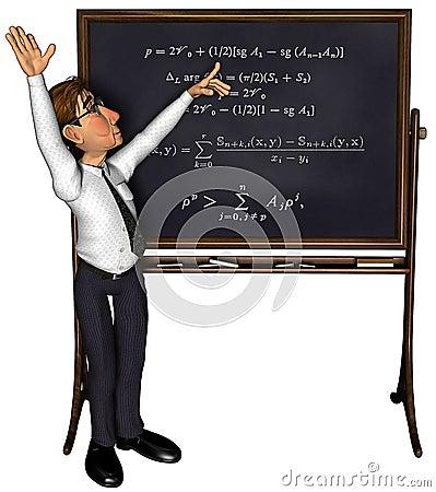 3d teacher teaching 3 cartoon 3