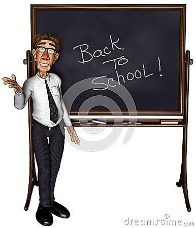 3d teacher teaching 5 cartoon