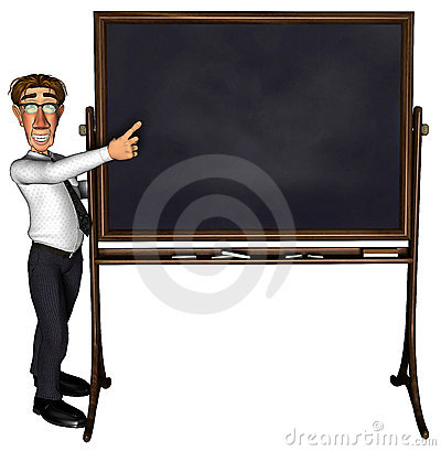 3d teacher teaching 5 cartoon blank