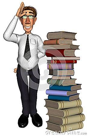 3d teacher teaching books