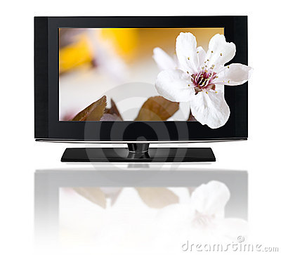 3D television. TV LCD in HD 3D.