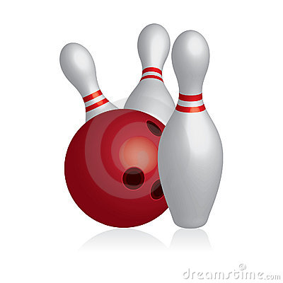 3D illustration of bowling Bowling Pin And Ball Clipart