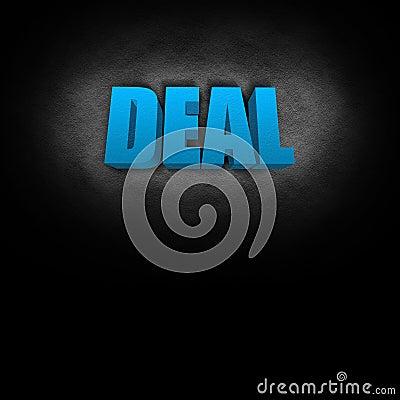 3D Text Concept Deal