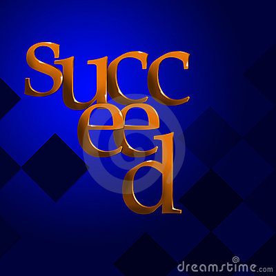 3D Text Concept Succeed