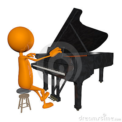 Free 3d The Piano Stock Photography - 19791952