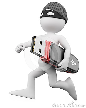 Free 3D Thief - Hacker Stock Photography - 24603652