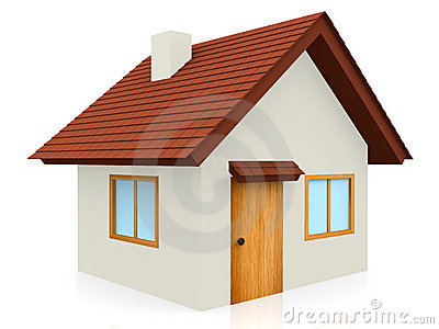3D Tiled roof house