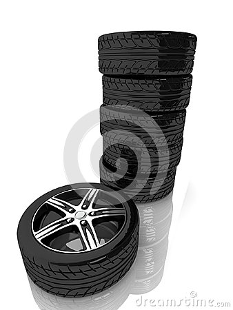 3d tower from wheels