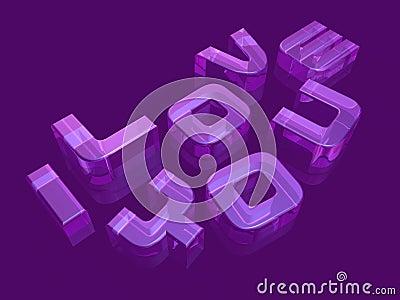 3d transparent typography art