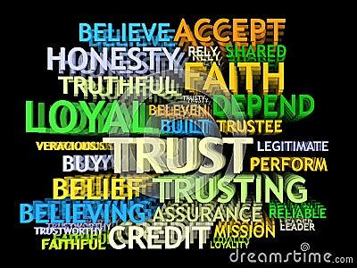 3d TRUST's word-cloud