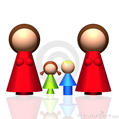 3D Two-mum Family Icon
