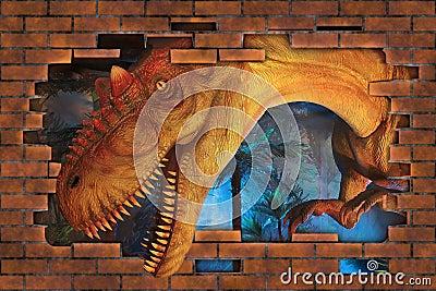 3D  Tyrannosaurus.