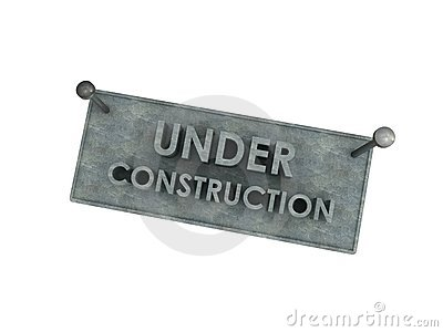 3d under construction stone board