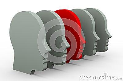3d unique human head