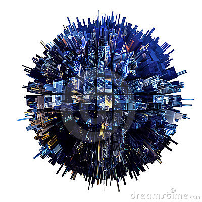 Free 3D Urban Planet Stock Photo - 18662050