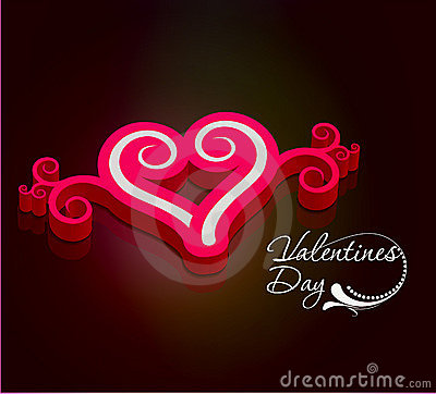 3d valentines day background