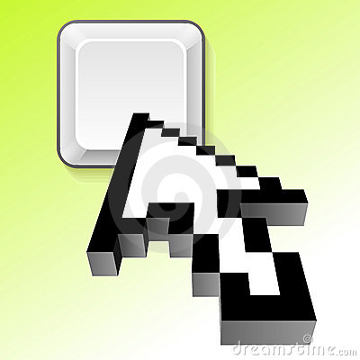 3d vector arrow cursor