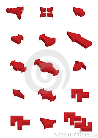 3d Vector arrow icons